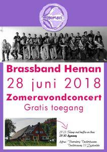 Zomeravondconcert Brassband Heman